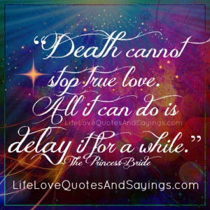 Death cannot stop true love. All it can do is delay it for a while ...