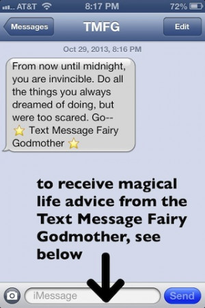 The Text Message Fairy Godmother is not currently accepting new ...