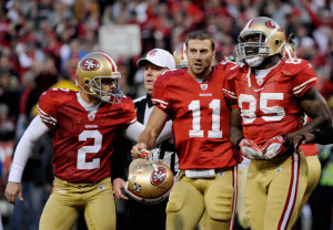 Vernon Davis and Alex Smith Divisional Playoffs New Orleans Saints