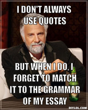 DIYLOL - I don't always use quotes But when I do, I forget to ...