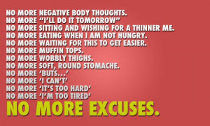 Weight loss motivation quotes-no-more-excuses