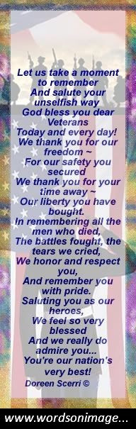 Veterans day quotes poems