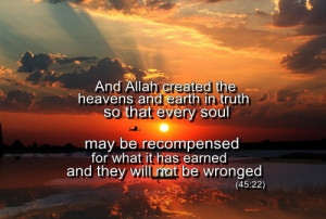 Why Allah created heavens and earth | Islamic Quotes