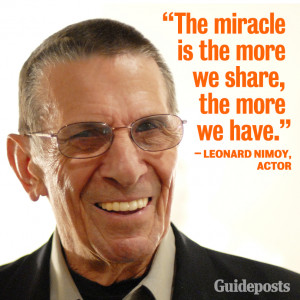 Photo found with the keywords: Leonard Nimoy quotes