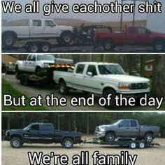Ford powerstroke. Chevy duramax. Dodge cummins. More