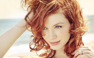 Women redheads christina hendricks faces