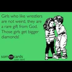 didn't even watch wrestling till my boyfriend got me into it. Now I ...