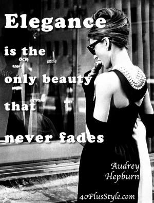 style elegance quote audrey hepburn