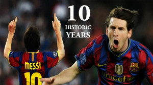 ... Barcelona superstar Lionel Messi's 10-year career at the Camp Nou