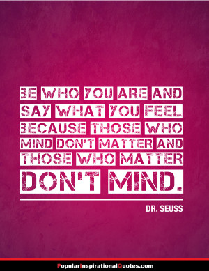 be who you are dr. seuss quotes