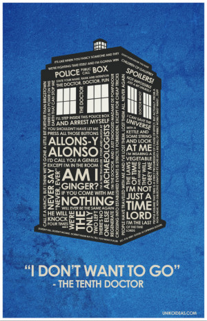 Doctor Who Dr Who Quote Poster