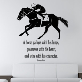 Horse decal-Horse Race Quote-Horse sticker-large 40 x 45 inches wall ...