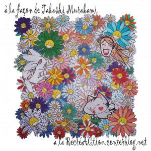 plus de coloriages fleurs fleurs takashi murakami fleurs