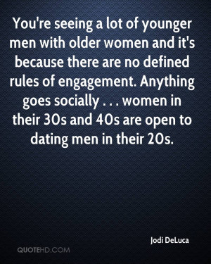 You're seeing a lot of younger men with older women and it's because ...