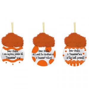 Tennessee Volunteers 3-Pack Team Sayings Ornaments