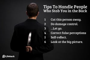 Tips To Handle People Who Stab You in the Back