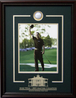 Mike Weir gt Autographed Mike Weir Picture with quot x 10 quot ...