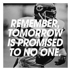Walter Payton Quote Canvas Art Print