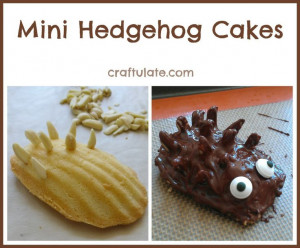 Mini Hedgehog Cakes - Craftulate