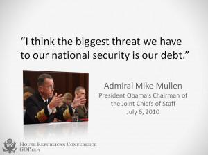 Debt - Admiral Mike Mullen Quote