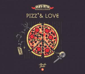 ... pizza reprenant la devise de Black Pizza : Pizz & Love . Merci