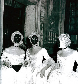 Jacqueline de Ribes at The Beistegui Ball, multiplied herself by ...