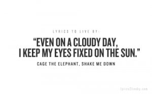 cage the elephant quotes