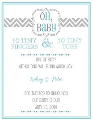 Pregnancy Announcement Wording