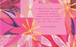 sad quotes on girly backgrounds