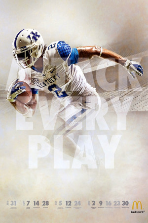 UK Athletics and McDonald's Release 2013 Football Posters