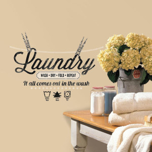 Laundry Quote Peel and Stick Wall Decals - Wall Sticker Outlet