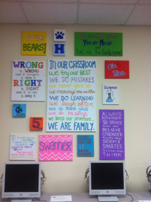 Quotes on canvas for my 5th grade classroomClassroom Quotes, Classroom ...