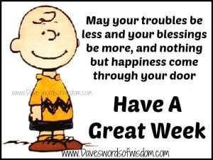 Have a great week. #Charlie_Brown