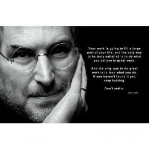 Steve Jobs - Don't Settle Quote Motivational Poster - 17x11