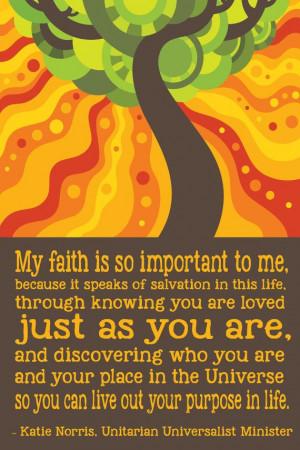 Unitarian Universalism: Your Purpose in Life Poster