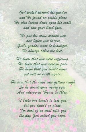God Looked Around His Garden Poem