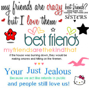 Crazy Best Friends Graphic For Myspace
