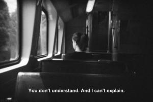 girl quote Black and White tumblr text depressed depression sad quotes ...