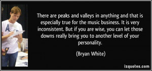 There are peaks and valleys in anything and that is especially true ...