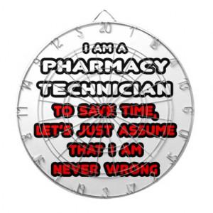 Funny Pharmacy Technician T-Shirts Dartboard With Darts