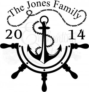 Anchor Wall Quote - Family Established