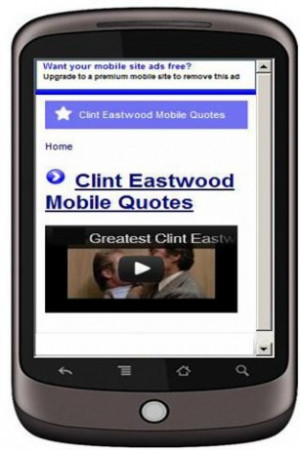 View bigger - Over 150 Clint Eastwood Quotes for Android screenshot