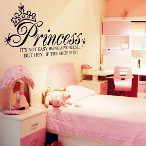 130-65cm-Princess-Art-Quote-Wall-Decals-Girls-Bedroom-Decoration ...
