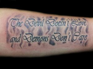 ... of good and not evil has been quoted very artistically in this tattoo