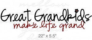 Great Grandchildren vinyl decal wall words art graphics. $12.99, via ...