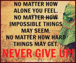 Daveswordsofwisdom.com: Never Give Up
