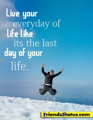 live life quotes fb status