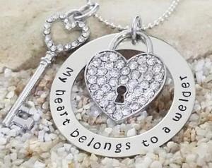 Jewelry - Necklace - My Heart - Welder - Wife Necklace - Girlfiend ...