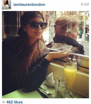 Lauren London lunching it up in NYC. Loving the cool shades…AND the ...
