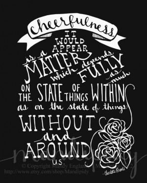 Charlotte Bronte Quote... Vintage Style Chalkboard Typography by ...